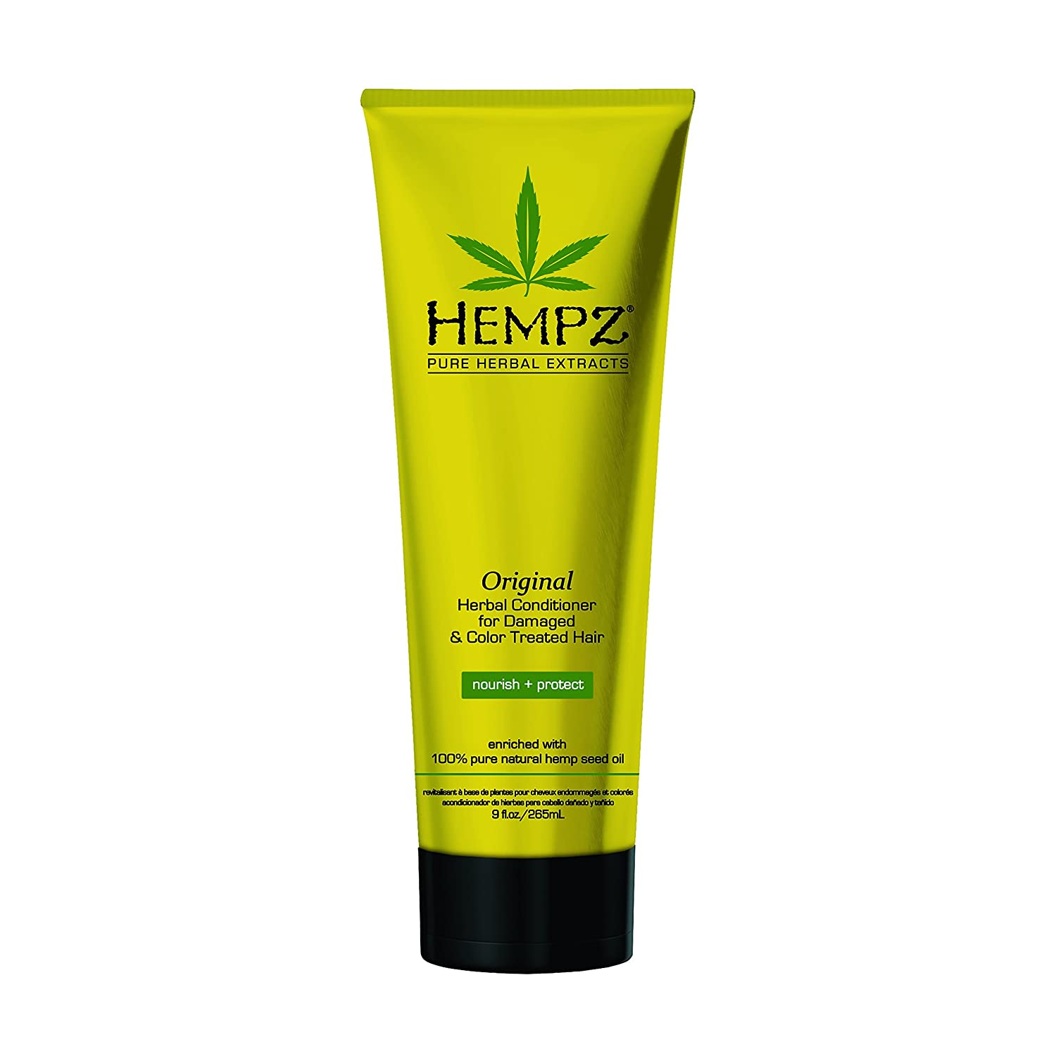 Hempz Original Herbal Conditioner for Damaged and Color Treated Hair, White, Floral/banana, 9 Fl Oz 120-2437-03