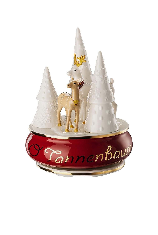 Hutschenreuther Sammelserie Weihnachtslieder-O Tannenbaum Spieluhr groß, Porzellan, Bunt, Bunt, Bunt, 13 x 13 x 17 cm 687e5e