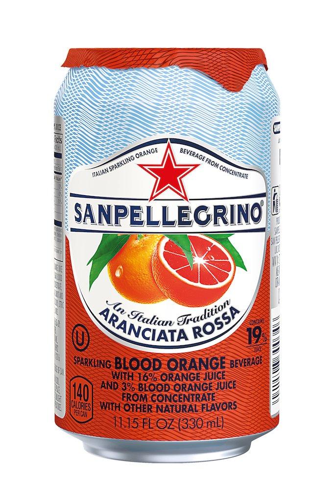 Sanpellegrino Blood Orange Sparkling Fruit Beverage, 11.15 fl oz. Cans (24 Count)