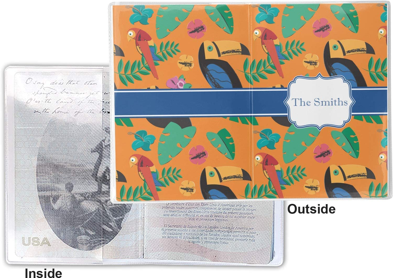 Personalized Toucans Vinyl Passport Holder