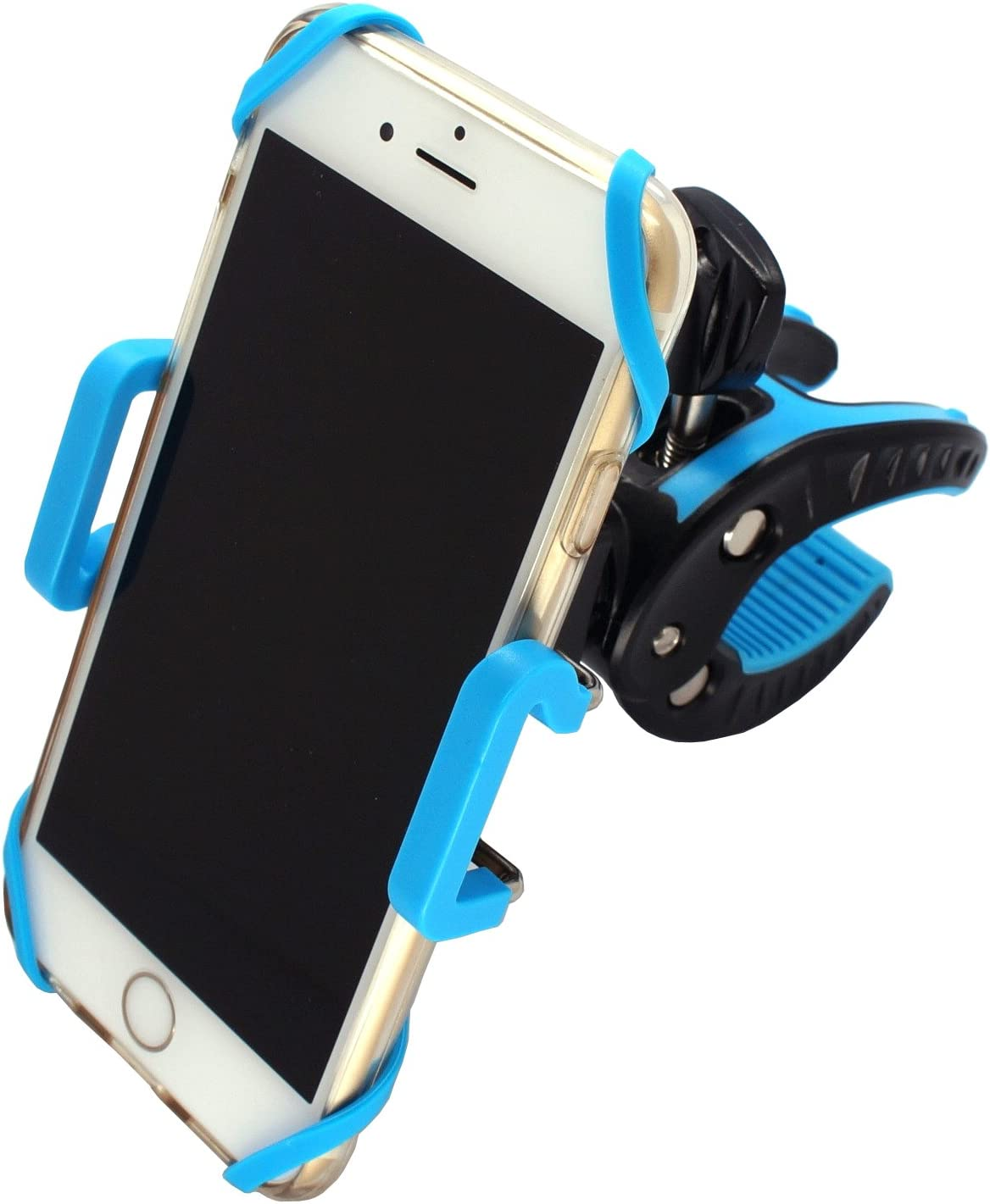 Patent Designed Mobile Catch Grab Everywhere Universal Cell Phone Bicycle Rack Handlebar & Motorcycle Holder Cradle for iPhone 7/6/6S/6S plus/5S/5C,Samsung Galaxy S3/S4/S5/S6/S7 Note 3/4/5,Nexus,HTC 71Caj22BEi3L
