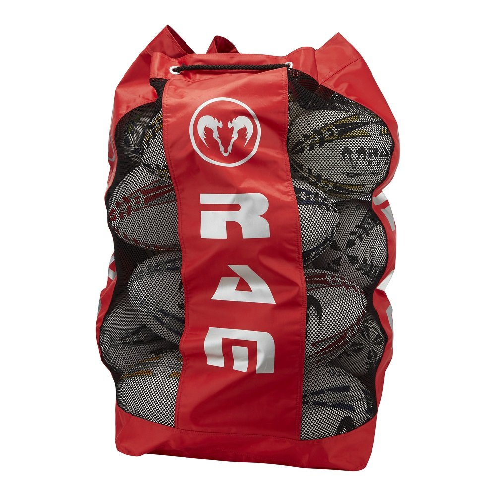 Ram Rugby Breathable Ball Bag - Large - Holds 18 Size 5 Balls - Red 2082