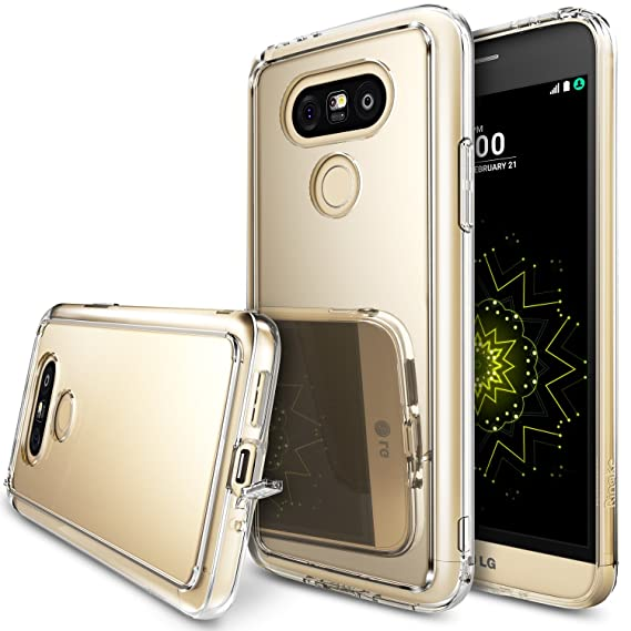 new concept 94cf0 5c9d2 LG G5 Case, Ringke [Fusion Mirror] Bright Reflection Radiant Luxury Mirror  Bumper [Shock Absorption Technology] Slim Stylish Protective Cover For LG  ...