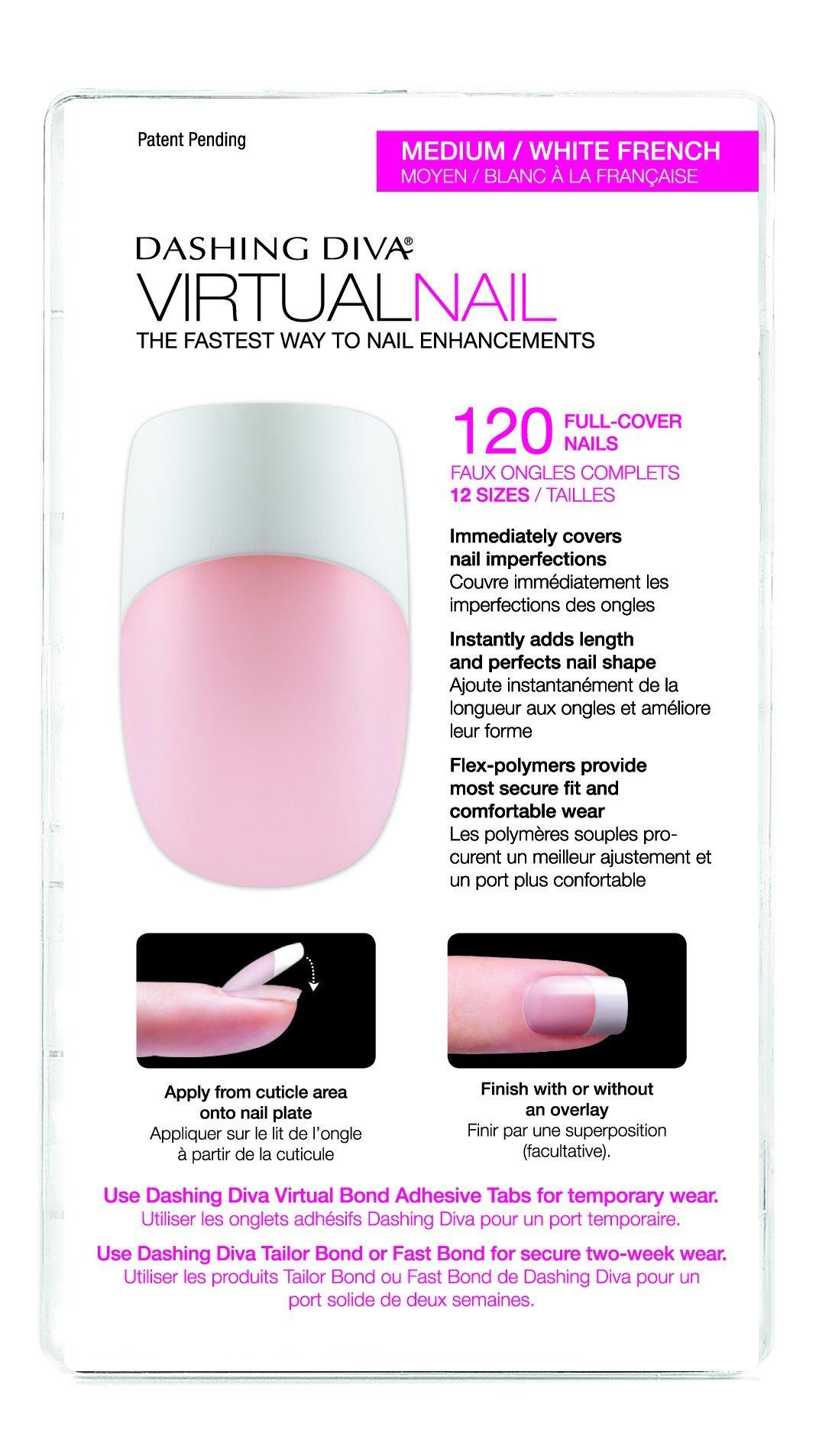 Dashing diva virtual nails clear 120 count false nails beauty - Diva nails and beauty ...