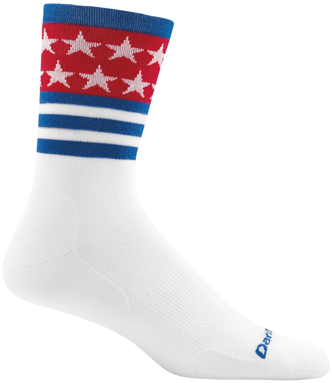 Darn Tough Stars and Stripes Micro Crew Ultralight Sock - Men's White Large by Darn Tough
