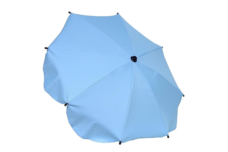 Universal Sonnenschirm Regenschirm für Kinderwagen mit variablem Schwenkarm (Blau) Aluxshop