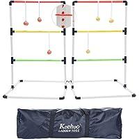 Keehoo Indoor/Outdoor Ladder Ball Toss Game Set Family Yard Beach BBQ Games for Adults Children