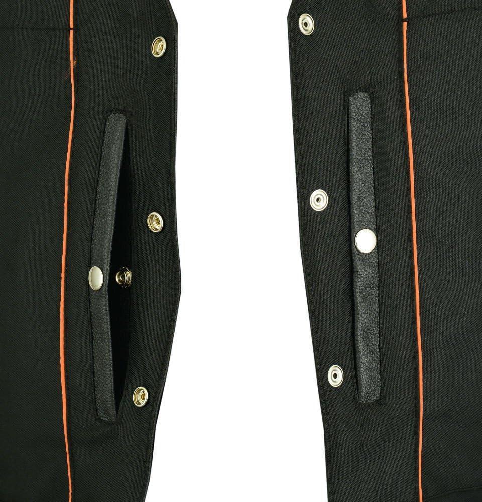 Motorcycle Vest DS105 Mens Single Back Panel Vest