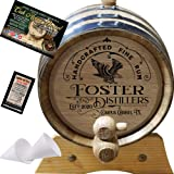 Personalized American Oak Spirit Aging Barrel (300) - Custom Engraved Barrel From Skeeter's Reserve Outlaw Gear - MADE…