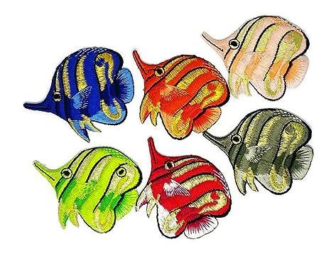 Set de 6 peces de dibujos animados mixtos D.I.Y. Parche bordado para coser o planchar con