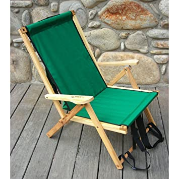 Captivating Back Pack Folding Beach Chair Fabric: Forest Green