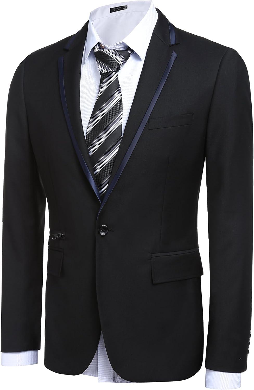 JINIDU Mens Suit Jacket Fashion Blazer Tuxedo