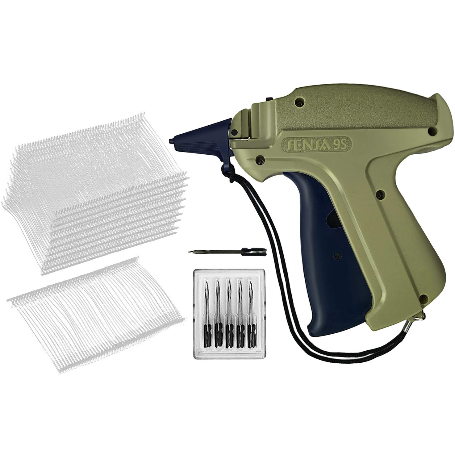 GILLRAJ MILAN Clothes Tagging Gun with 5000 2'' Standard Tags Attachments and 6 Needles Clothing Retail Price Tag Gun Kit for Boutique Store Warehouse Consignment Garage Yard Sale