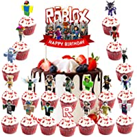 Toppers for Roblox Cake Topper Cupcake Toppers Decorations Birthday Party Supplies, Toppers 21 counts