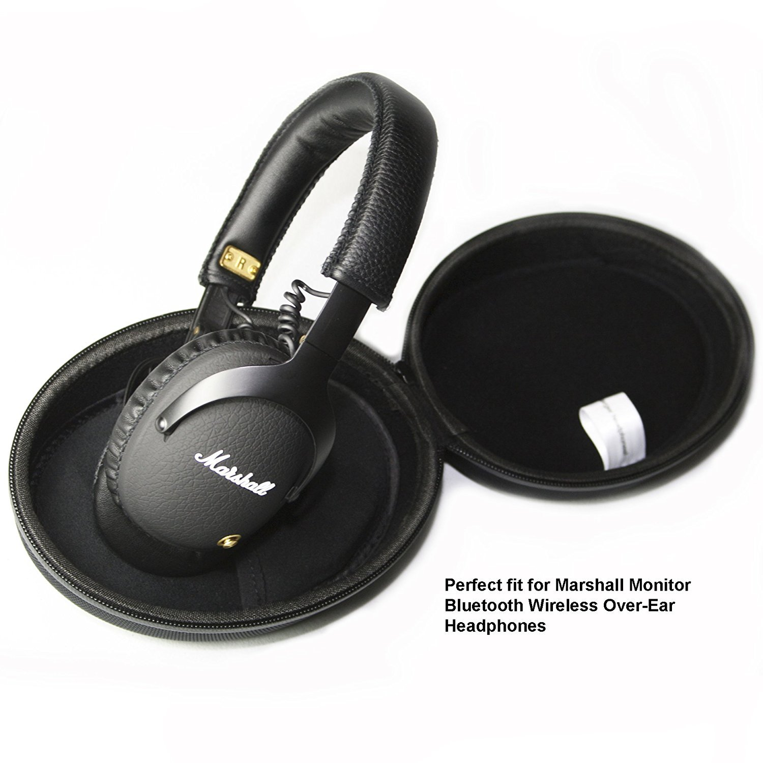 Carcasa rígida de protección para Marshall Monitor Bluetooth Over-Ear auriculares y Marshall Major II auriculares de diadema Bluetooth: Amazon.es: ...