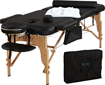clinomed products black massage section portable table medkweb in pad