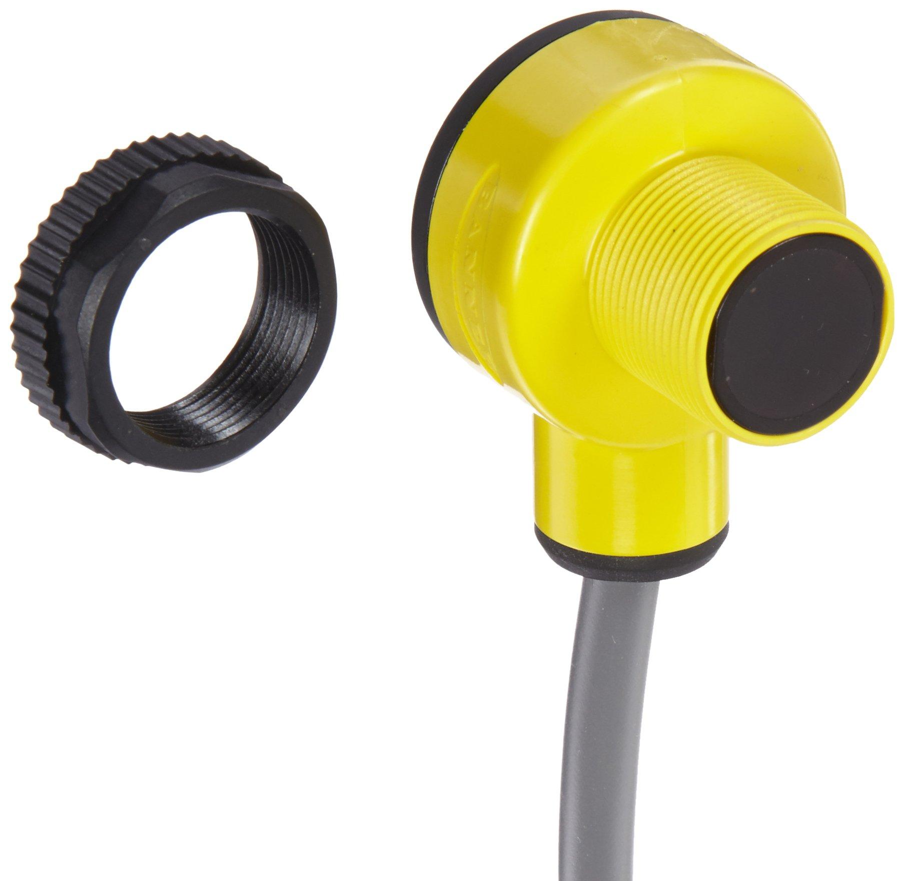 Banner T186E EZ Beam Emitter, Opposed Sensing Mode, 2 m PVC 2-Wire Cable, Infrared LED, 10-30VDC Supply Voltage, 20 m Sensing Range