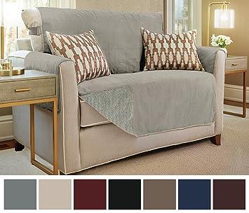 Gorilla Grip The Original Premium Micro Suede Slip Resistant Slip Cover  Couch Protector,