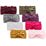 Baby Headbands Turban Knotted, Girl's Hairbands for Newborn,Toddler and Childrens (8 Pack-cl2)