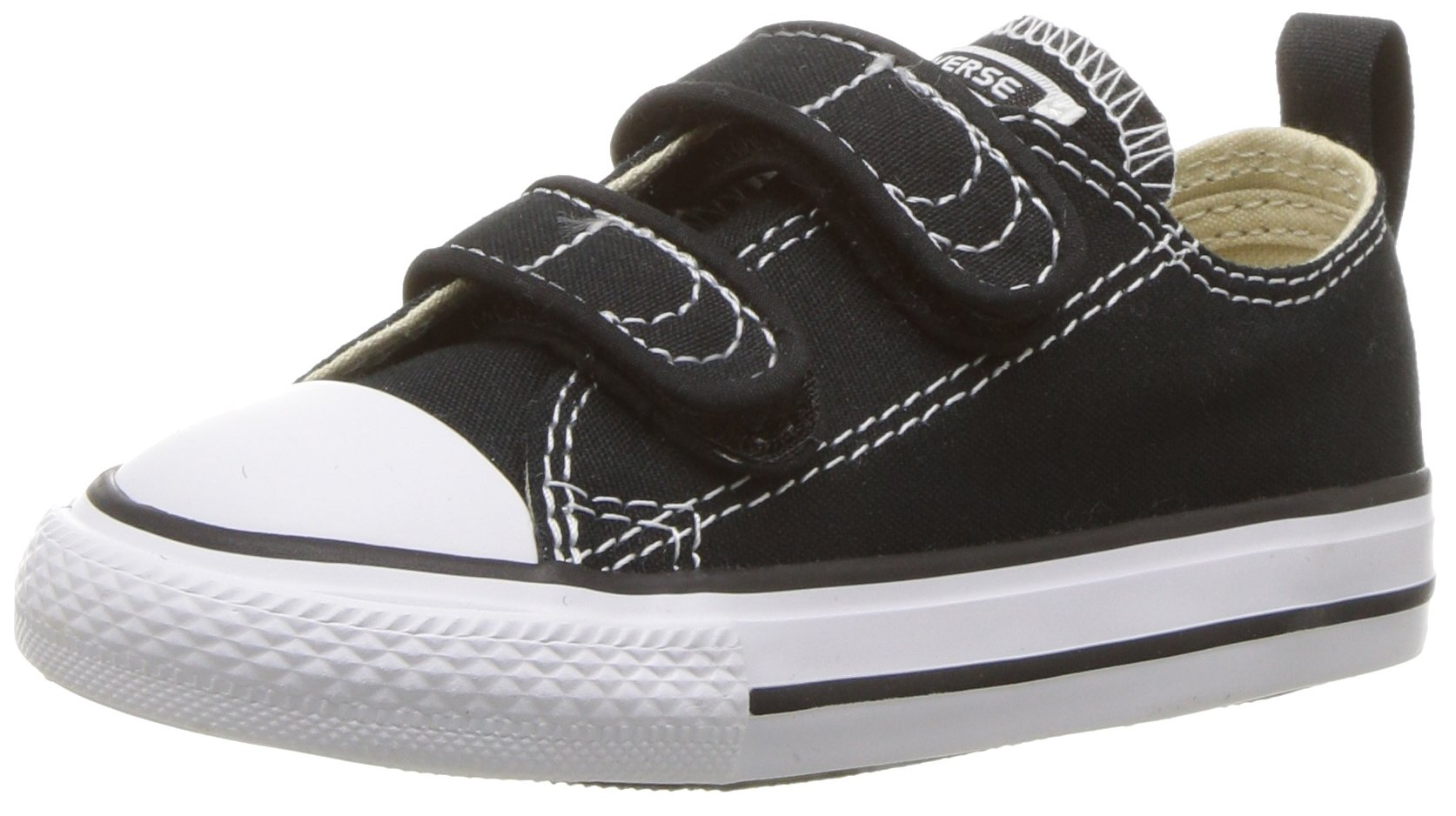 Converse Boys' Chuck Taylor All Star 2V Low Top Sneaker black 7 M US Toddler
