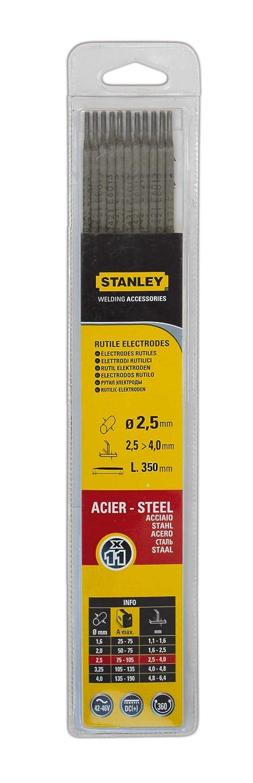 Stanley 460716 - Electrodos para soldadura (17 unidades, 1.6 mm de diá metro) 1.6 mm de diámetro)