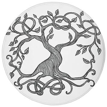 Alfombra redonda, decoración tribal, tatuaje étnico circular ...