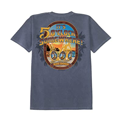 Big Dogs Five O Clock Brews Pigment Washed Crew