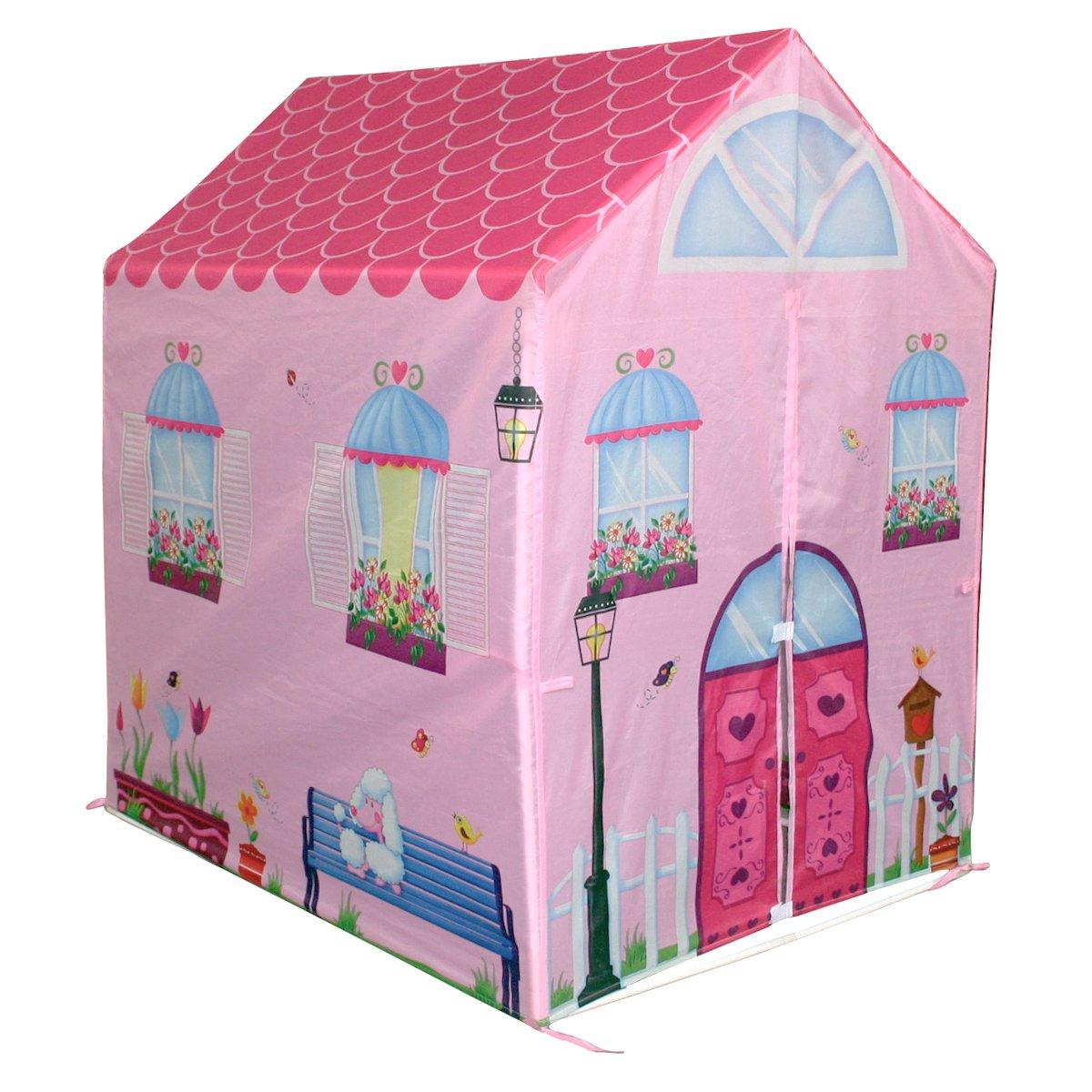 Charles Bentley Kids Children's Pink Girls Playhouse Wendy House Indoor Outdoor Play Tent