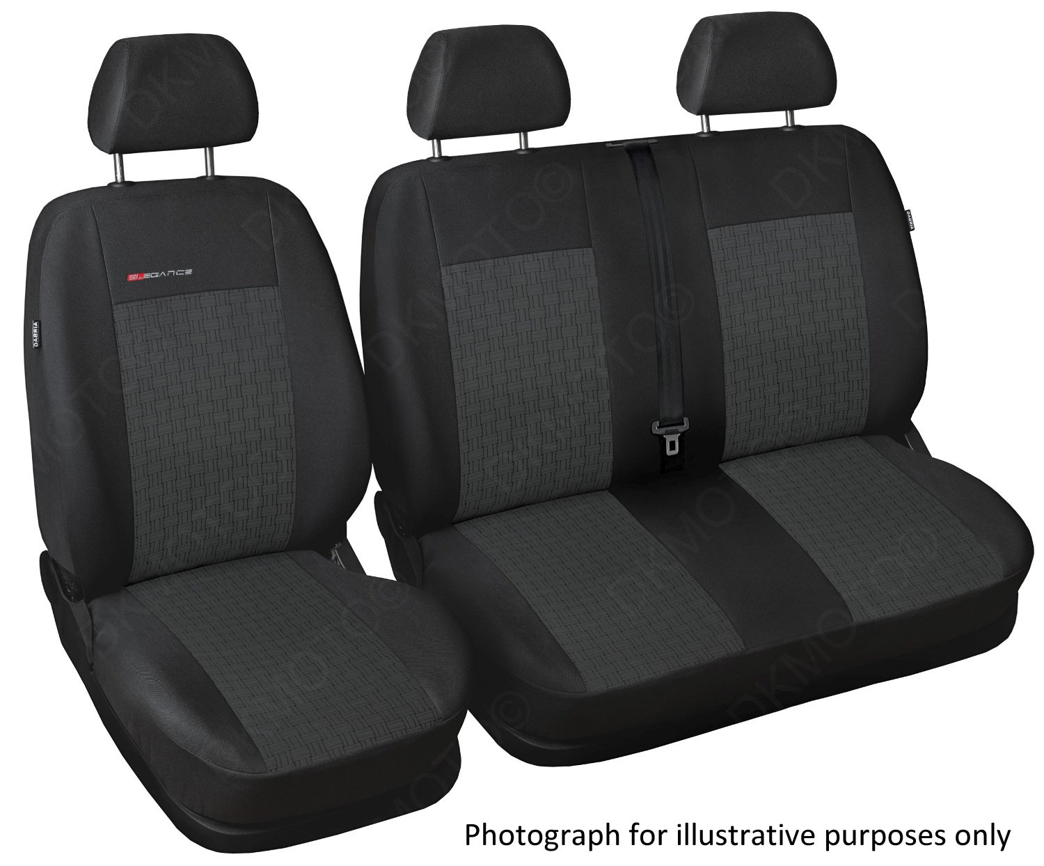 Tailored seat covers - WITH FOLD DOWN TABLE (PATTERN 1) DKMOTO 594P1
