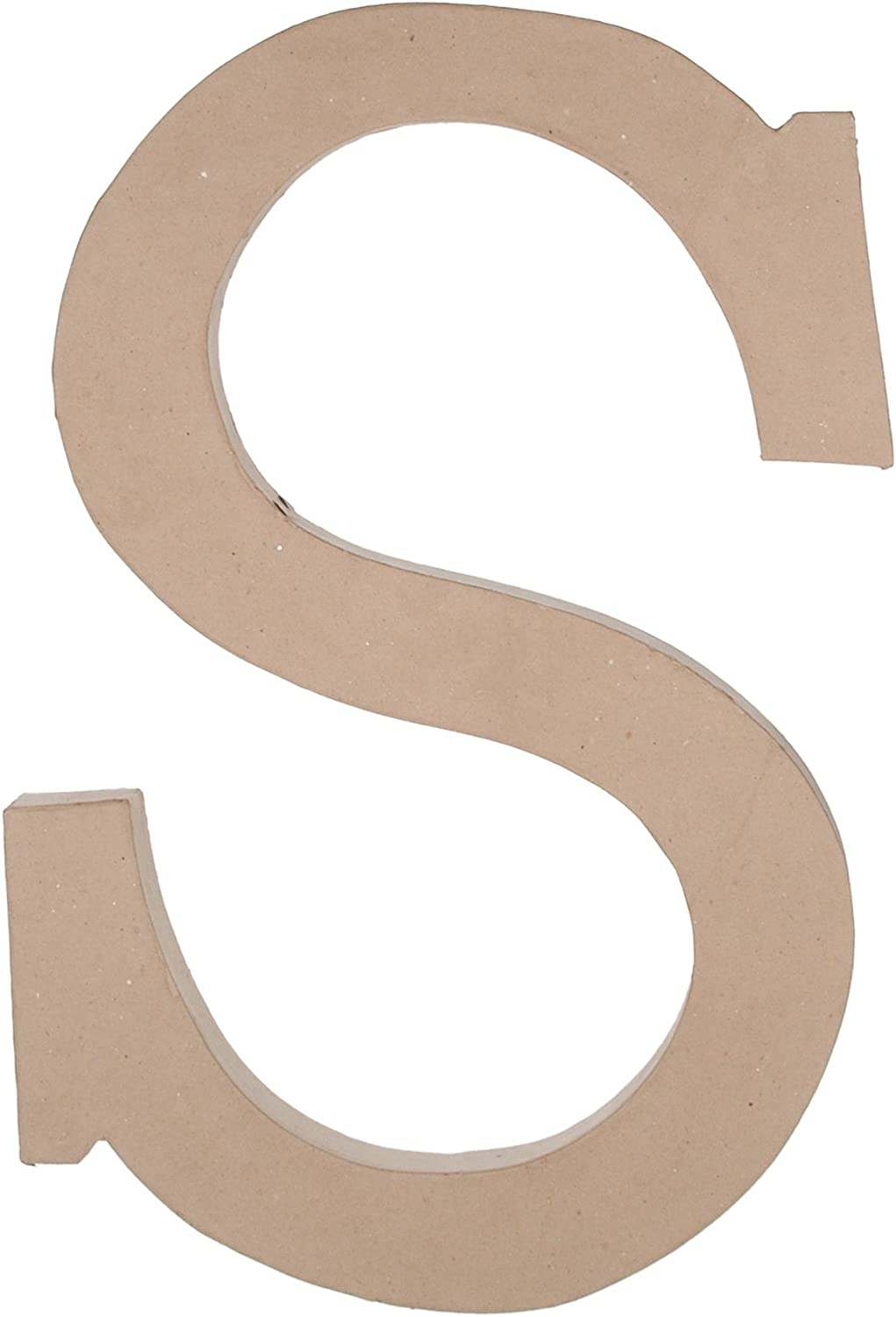 Darice 2862-B Paper Mache Letter 1ct Party Decoration B 8 Natural