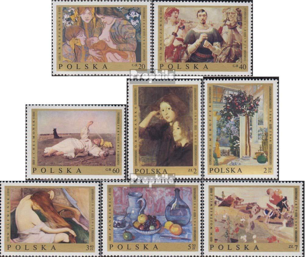 Prophila Collection Polen 1941-1948 Briefmarken f/ür Sammler kompl.Ausg. Malerei 1969 Polnische Gem/älde