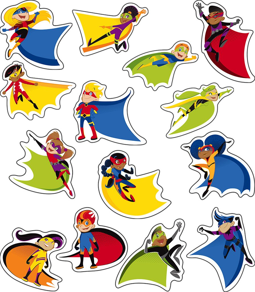 Amazon.com : Carson Dellosa Super Power Super Kids Cut-Outs (120185 ...