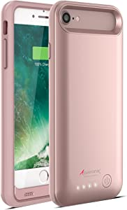 Alpatronix iPhone SE 2020/8/7 Battery Case, Slim Protective Extended Charging Case with UL-Tested Battery Compatible with New iPhone SE 2020, 8 & 7 (4.7 inch) BX170 – Rose Gold