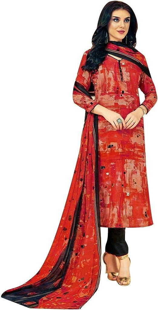 Amazon.com: Ladyline Rayon vestido indio de Salwar Kameez ...