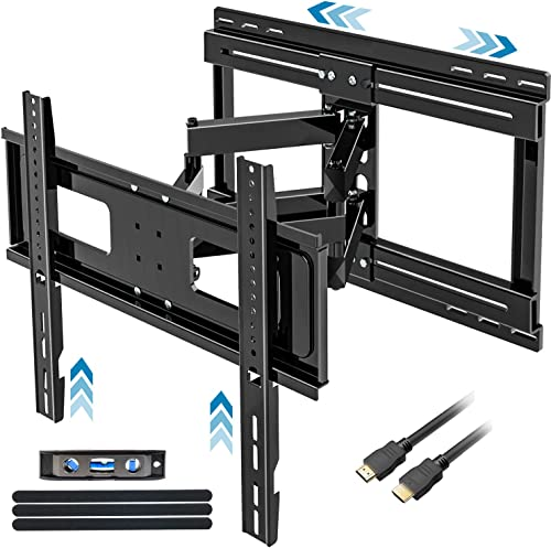 FOZIMOA TV Wall Mount with Sliding Design for 32-65 inch TVs, Full Motion TV Mount Bracket with Tilt Swivel Articulating Arm, Fits LCD LED Flat Screen Curved Screen, up to 88 lbs and VESA 400×400