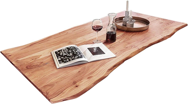 Sam Tischplatte 200x100 Cm Akazie Massiv Naturfarben Stilvolle Baumkanten Platte Pflegeleichtes Unikat Amazon De Kuche Haushalt