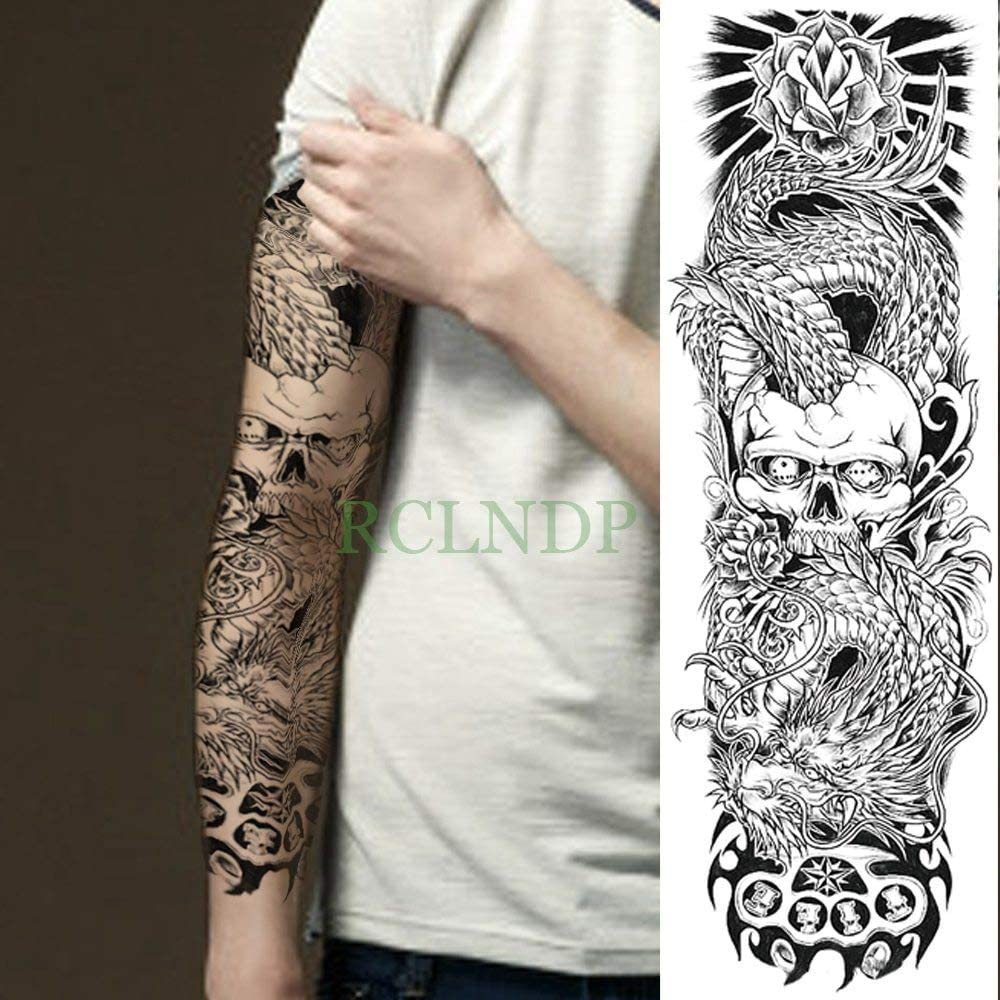 Yyoutop Impermeable e Tattoo Sticker Cool Mechanics Brazo Completo ...