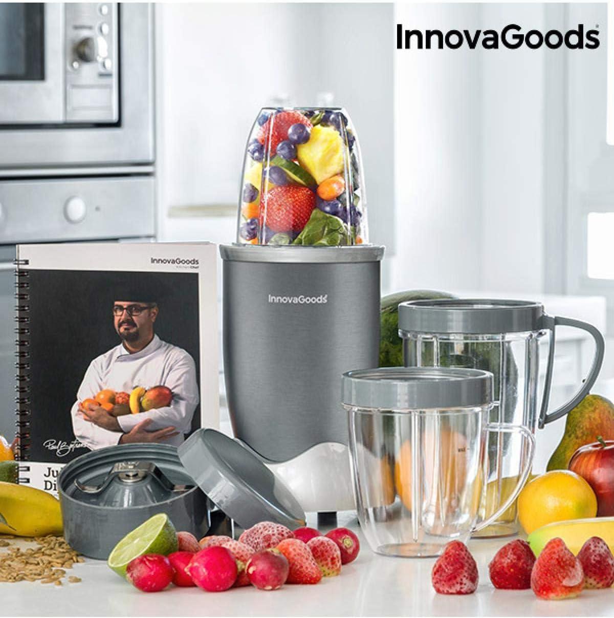 InnovaGoods IG115083 Batidora de vaso, 600 W, Gris: Amazon.es: Hogar