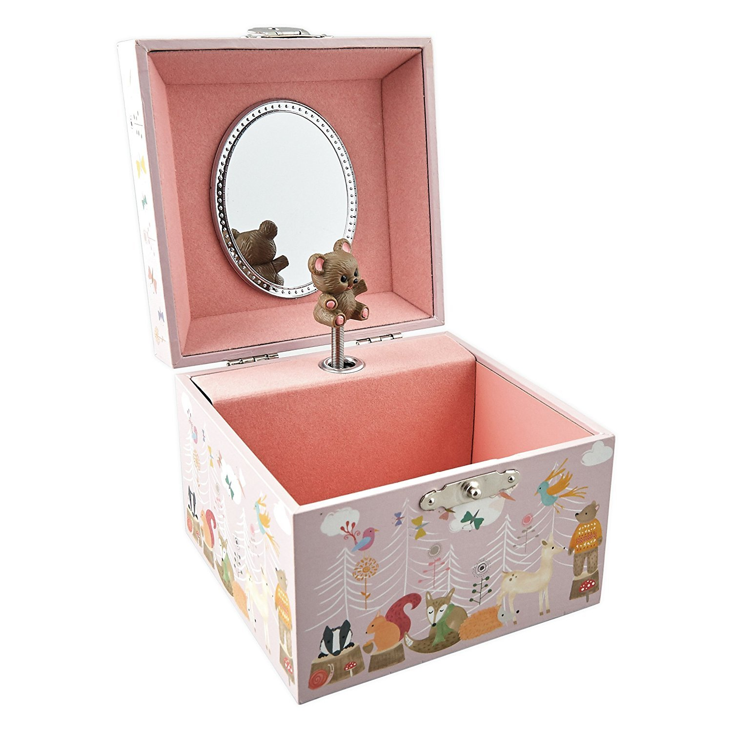 Woodland Animal Musical Jewellery Box by Floss & Rock