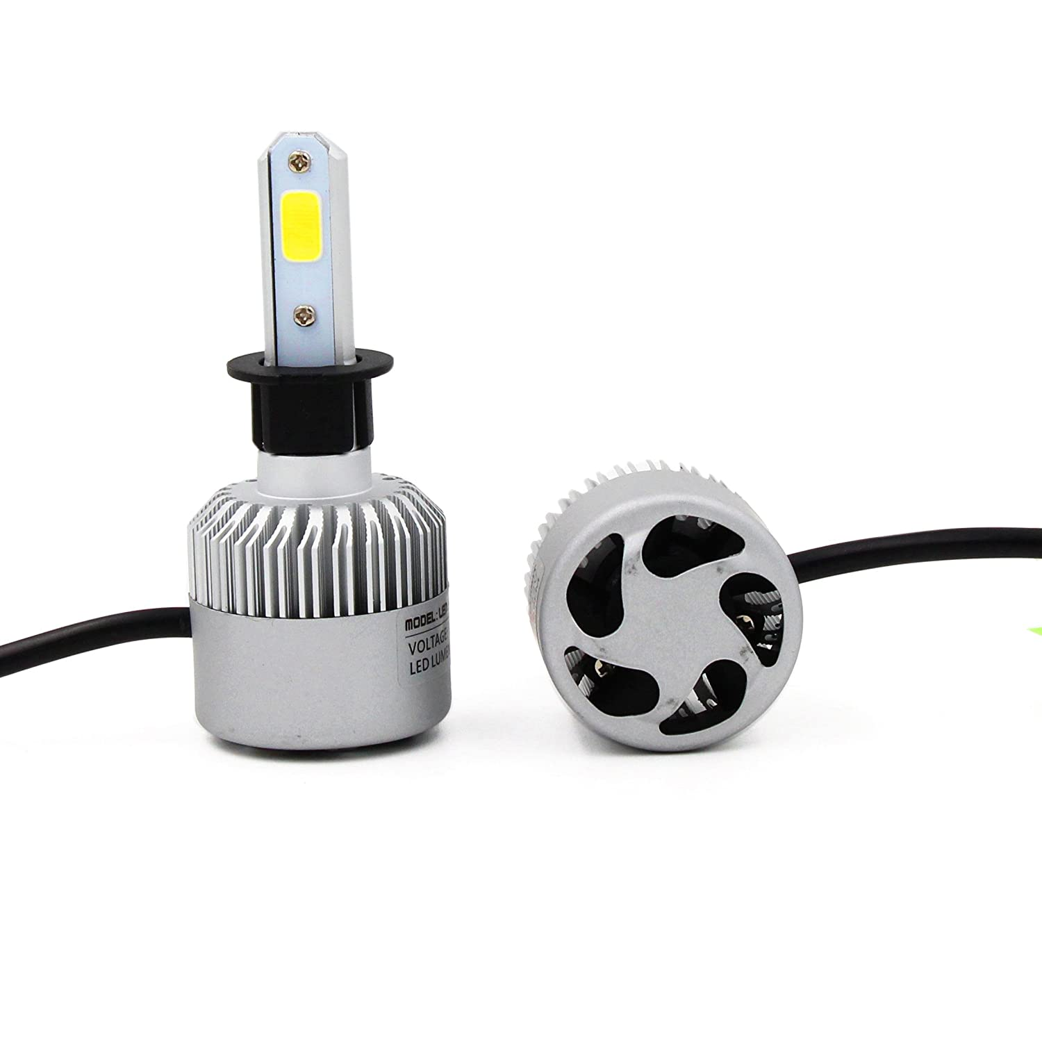 9012 COB LED Headlight Bulb Kit 72W 16000lm 6500K Xenon