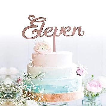 Amazon.com: Decoración para tarta de oro rosa de 11 ...