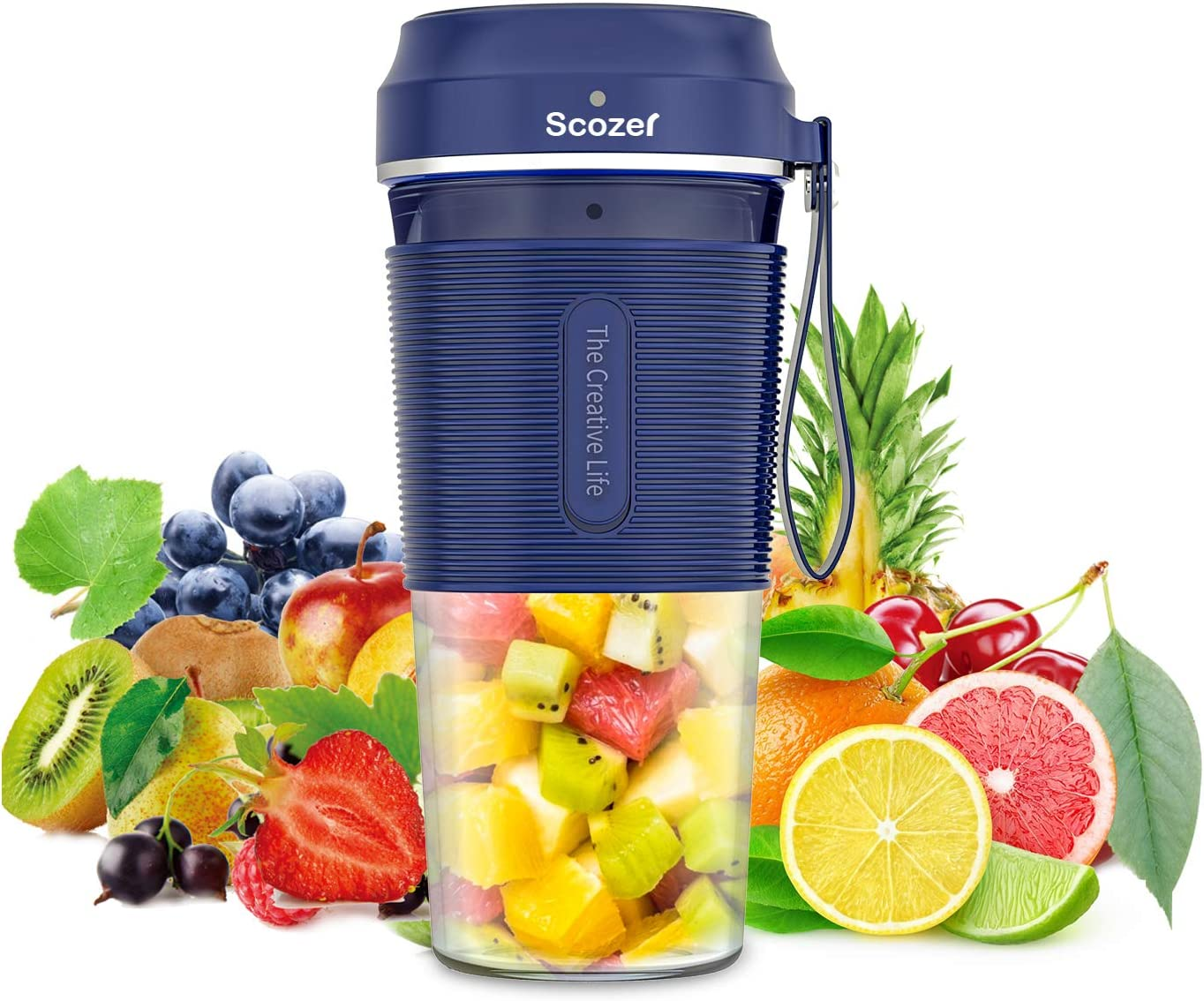 Portable Blender,Cordless Personal Size Blenders with USB Rechargeable,BPA Free Tritan 300ml,Mini Personal Blender Juicer Cup Mixer for Home,Office,Sports,Travel,Outdoors
