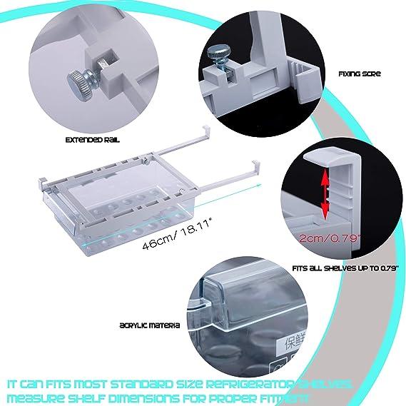 HapiLeap Cajón de Organización para Nevera con Diseño Exclusivo (2 ...