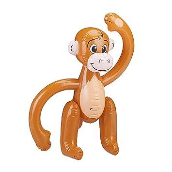 Relaxdays Aufblasbarer Affe Affchen Schwimmtier Dschungel Party