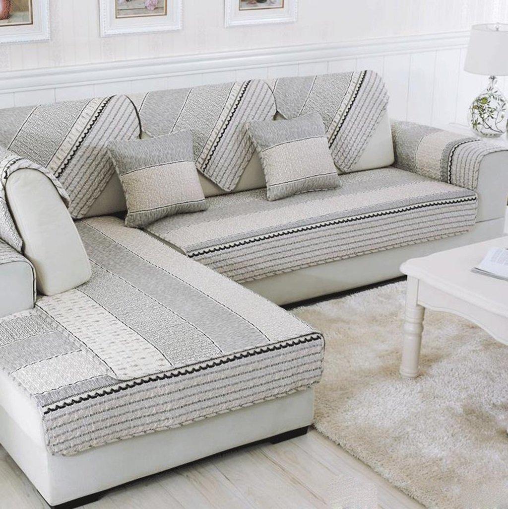 Carpet.a ANDEa Semplice Moderna Pad Sofa Cover Combinazione Asciugamano Set Antiscivolo Panno di Cotone Twill Quattro Stagioni Cuscino Originalità (Dimensioni : 45 * 45cm) Guobaorong
