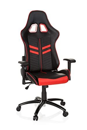 hjh OFFICE 729240 Silla Gaming League Pro Piel sintética Negro/Rojo Silla escritorioe Metal Estable, Silla de Oficina, Silla Racing: Amazon.es: Hogar
