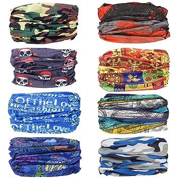 Amazon.com: Ambielly Headbands Paquete de 8 pañuelos mágicos ...