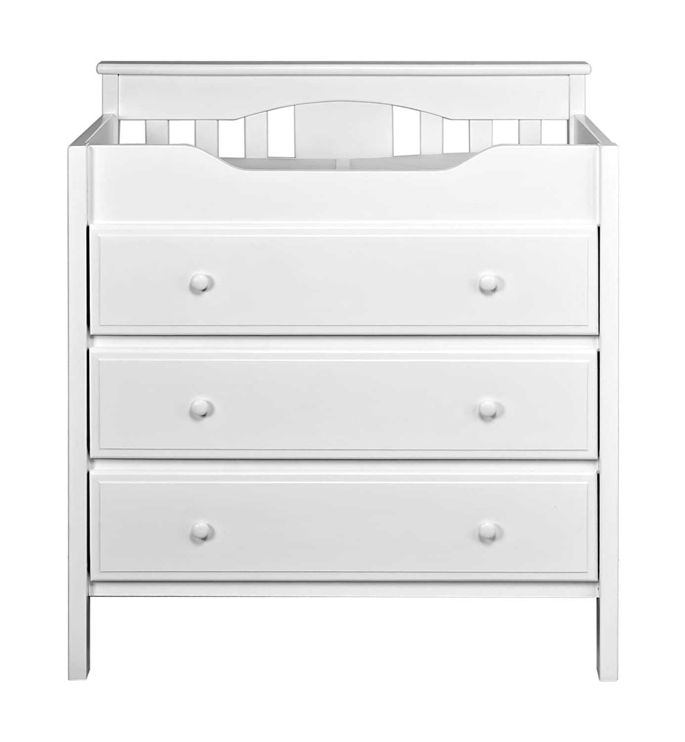 Amazon DaVinci 3 Drawer Changer Dresser White Changing