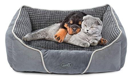 Letto Con Schienale Morbido : Cuccia letto per cani piccoli gatti peluche ultra morbido