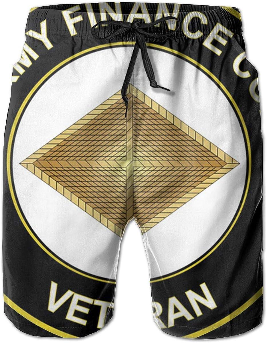 Army Veteran Finance Corps 3D Print Mens Beach Shorts Swim Trunks Workout Shorts Summer Shorts U.S